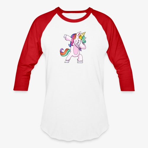 DABBING UNICORN Kid - Baseball T-Shirt