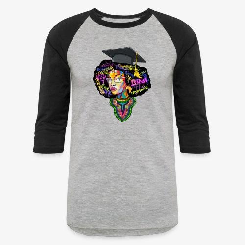 Smart Black Woman - Baseball T-Shirt