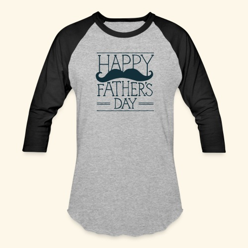 Fathers Day Mustache Design - Baseball T-Shirt