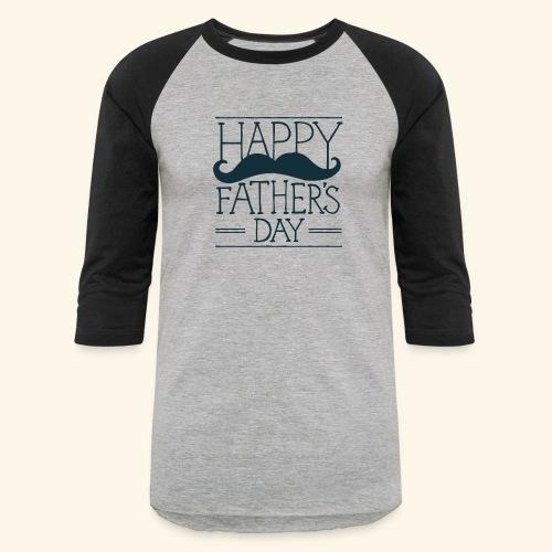 Fathers Day Mustache Design - Baseball T-Shirt