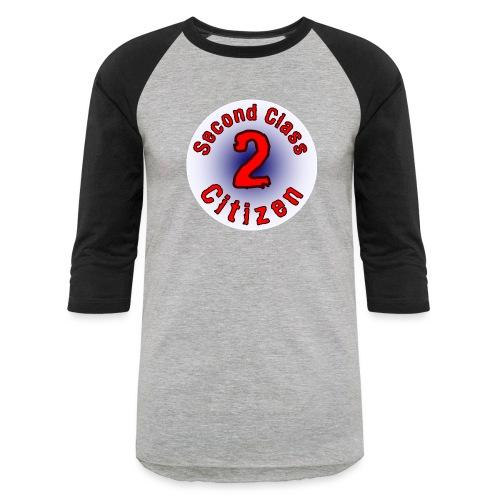 2nd Class Citizen Logo (Light) - Unisex Baseball T-Shirt