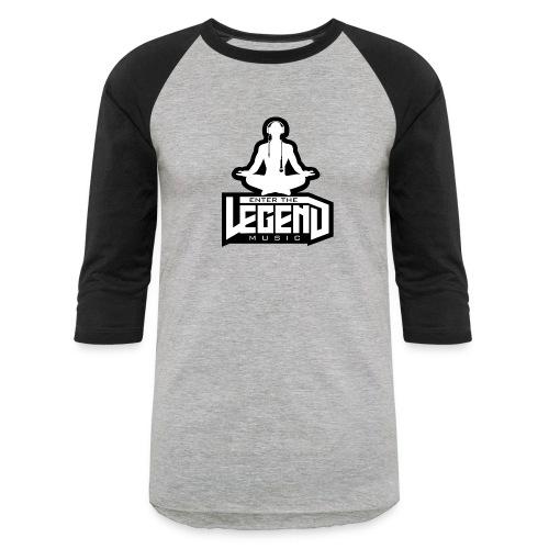 Enter The Legend Music B/W - Baseball T-Shirt