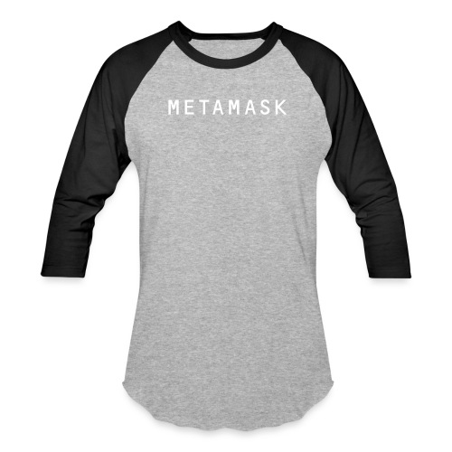 MetaMask Wordmark White - Baseball T-Shirt