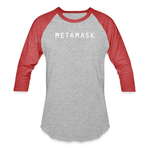 MetaMask Wordmark White - Unisex Baseball T-Shirt