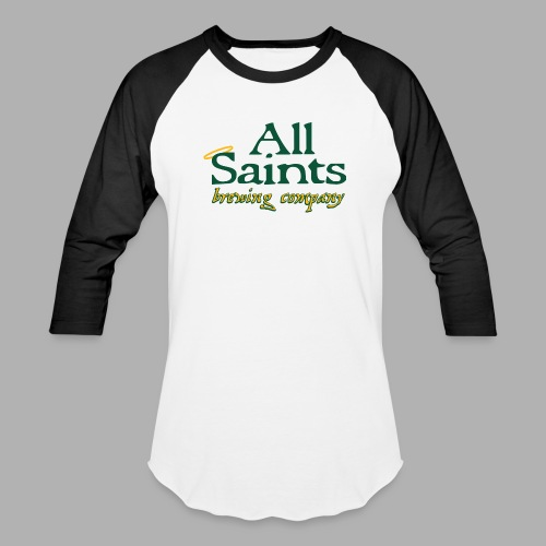 All Saints Logo Full Color - Unisex Baseball T-Shirt