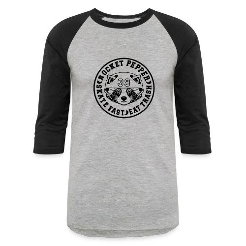 RocketPepper39 Black - Unisex Baseball T-Shirt