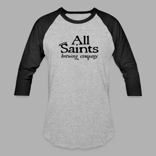 All Saints Logo Black - Unisex Baseball T-Shirt