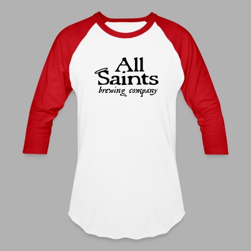 All Saints Logo Black - Baseball T-Shirt