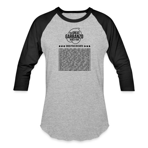 Great Garbanzo World Tour - Unisex Baseball T-Shirt