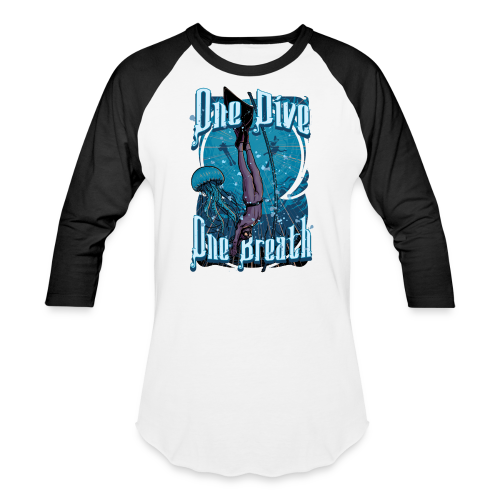 One Dive One Breath Freediving - Baseball T-Shirt