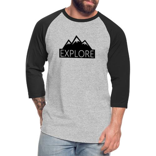 Explore - Unisex Baseball T-Shirt