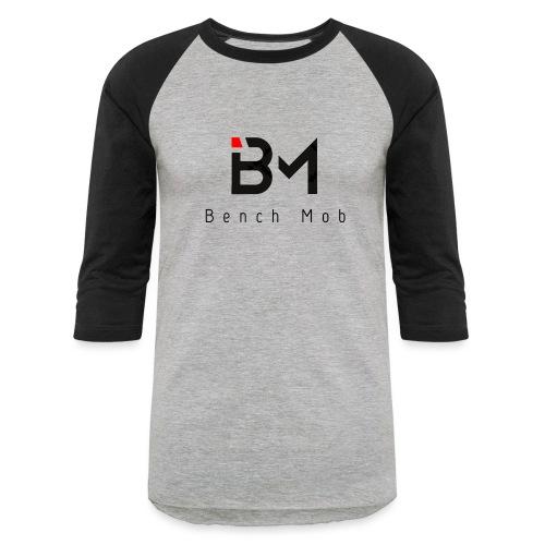 Bench Mob Logo (black) - Unisex Baseball T-Shirt