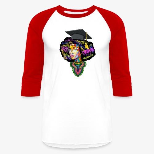Melanin Women Afro Education - Baseball T-Shirt