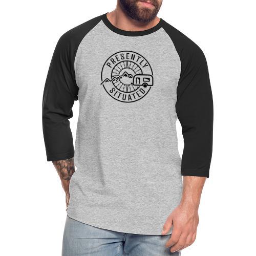 Presently Situated Logo - Unisex Baseball T-Shirt