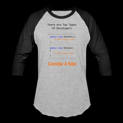 Code Styling Preference Shirt - Baseball T-Shirt
