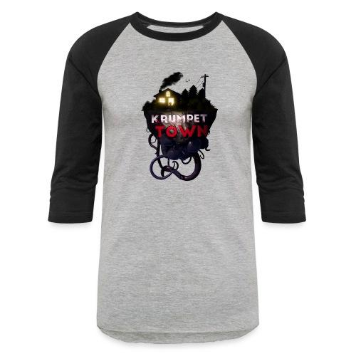 Krumpet Town 3D Logo - Unisex Baseball T-Shirt