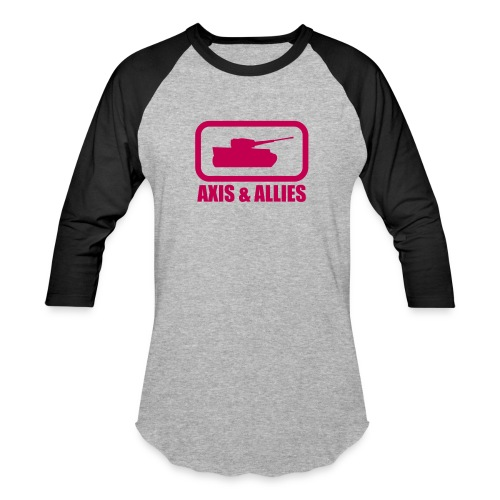 Tank Logo with Axis & Allies text - Multi-color - Unisex Baseball T-Shirt