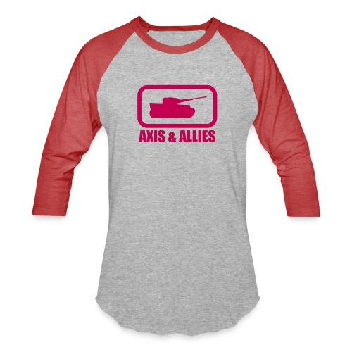 Tank Logo with Axis & Allies text - Multi-color - Baseball T-Shirt