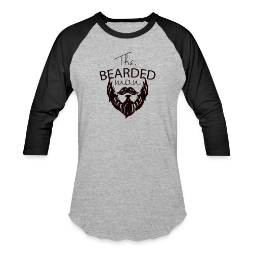 The bearded man - Baseball T-Shirt