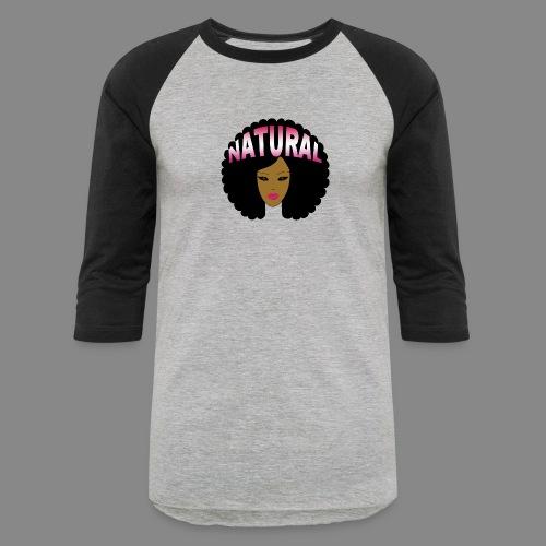 Natural Afro (Pink) - Baseball T-Shirt