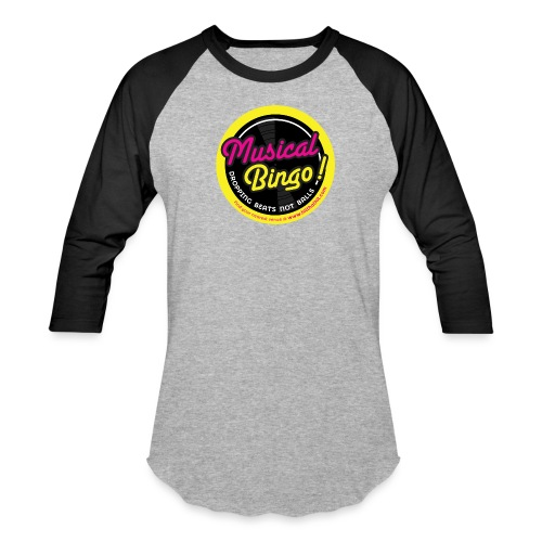 MUSICAL BINGO LOGO - Unisex Baseball T-Shirt