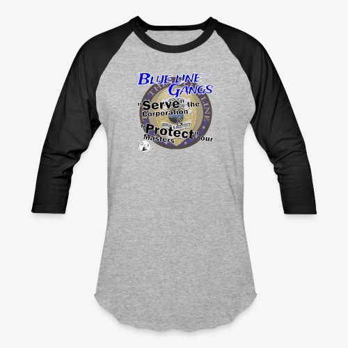 Thin Blue Line - To Serve and Protect - Unisex Baseball T-Shirt