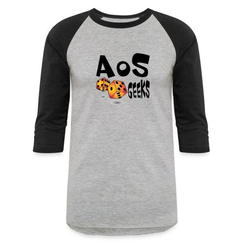 AOS Geeks NOIR - T-shirt de baseball unisexe