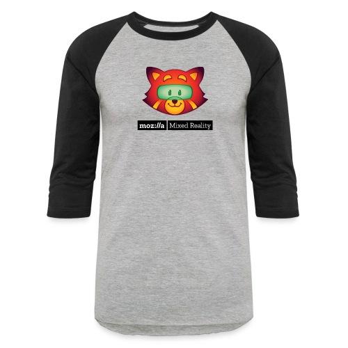 Foxr Head (black MR logo) - Baseball T-Shirt