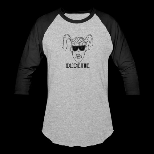 Dudette Head 1 - Unisex Baseball T-Shirt