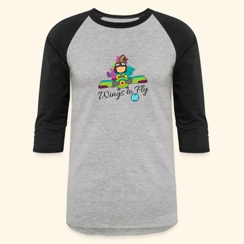 Girl aviator flying an old plane - Baseball T-Shirt