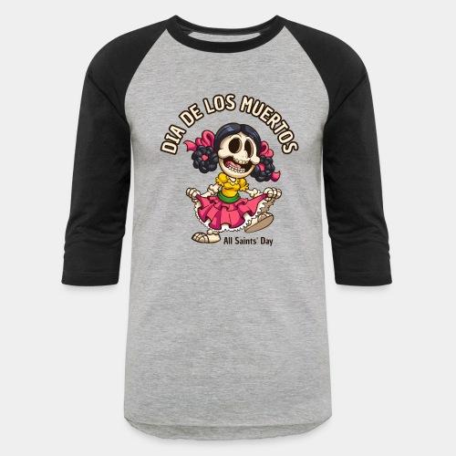dia de los muertos - Unisex Baseball T-Shirt