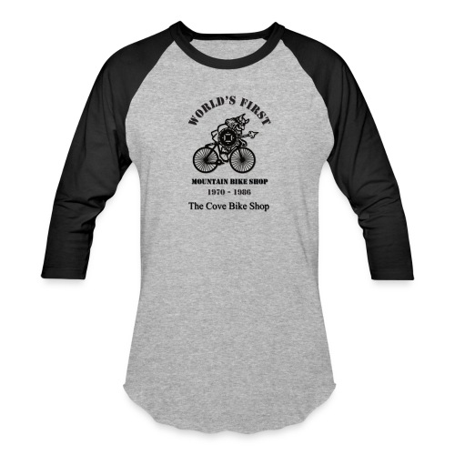 The Cove Bike Shop VIKING on front - Unisex Baseball T-Shirt