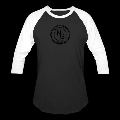 no gimmicks logo svart - Baseball T-Shirt