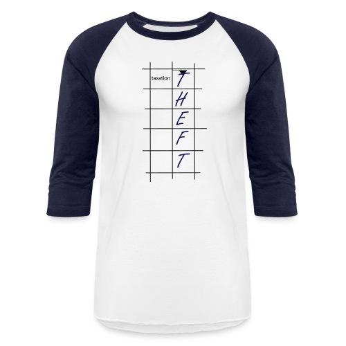 Taxation is Theft Crossword - Baseball T-Shirt