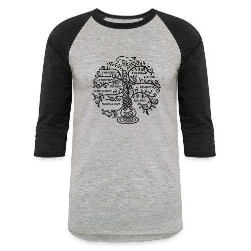 Yggdrasil - The World Tree - Baseball T-Shirt