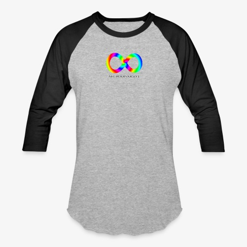 Neurodiversity with Rainbow swirl - Baseball T-Shirt