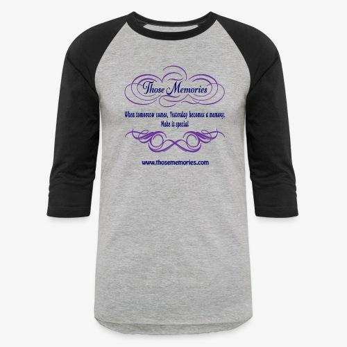 Those Memories Logo - Unisex Baseball T-Shirt