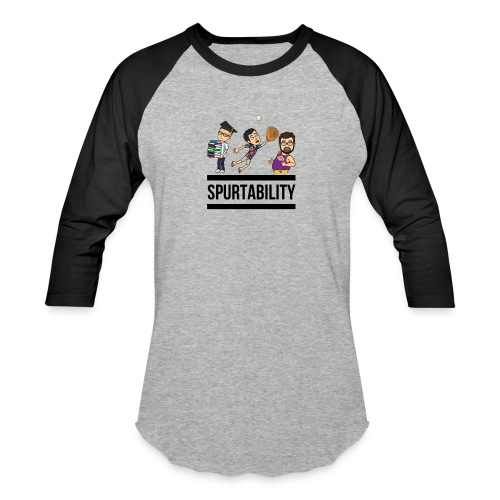 Spurtability Black Text - Baseball T-Shirt
