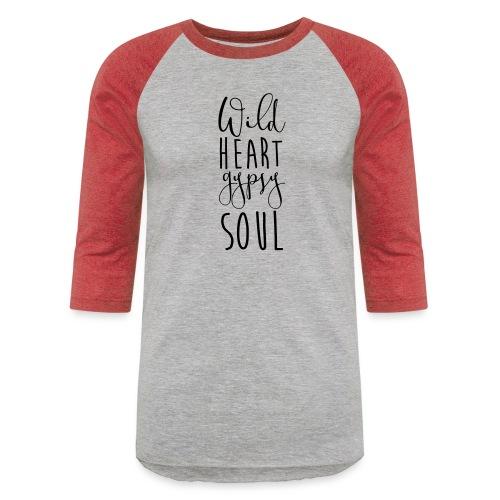 Cosmos 'Wild Heart Gypsy Sould' - Baseball T-Shirt