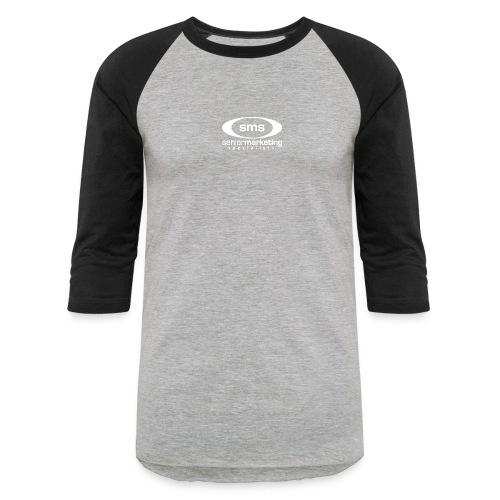 SMS White Logo - Baseball T-Shirt