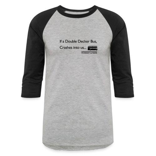 Double Decker Bus - Baseball T-Shirt