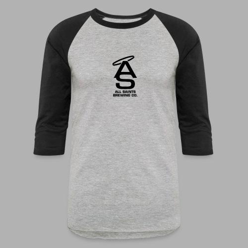 AS Logo Black - Baseball T-Shirt
