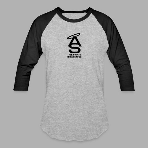 AS Logo Black - Unisex Baseball T-Shirt