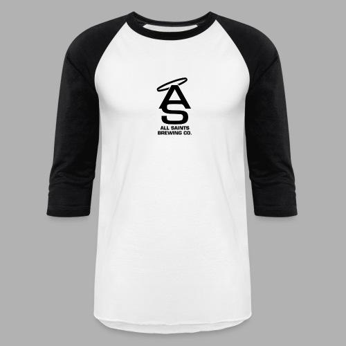AS Logo Black - Unisex Baseball T-Shirt