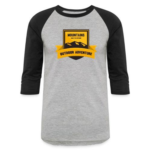Mountains Dare to explore T-shirt - Unisex Baseball T-Shirt
