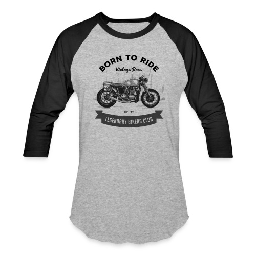 Born to ride Vintage Race T-shirt - Unisex Baseball T-Shirt