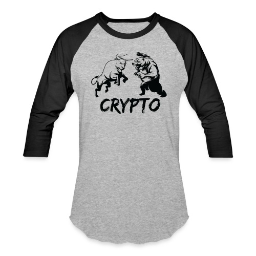 CryptoBattle Black - Baseball T-Shirt