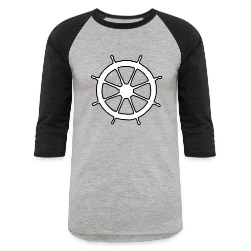 Steering Wheel Sailor Sailing Boating Yachting - Unisex Baseball T-Shirt