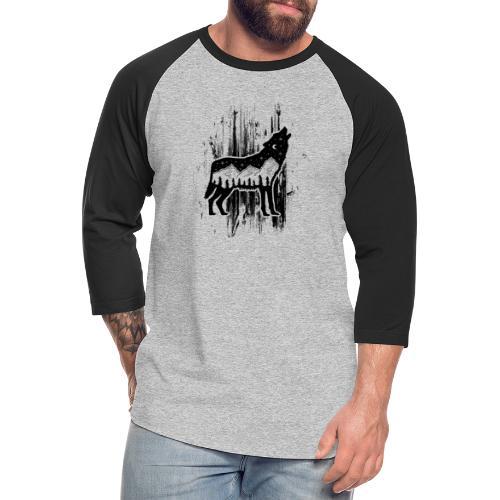 Wolf - Unisex Baseball T-Shirt