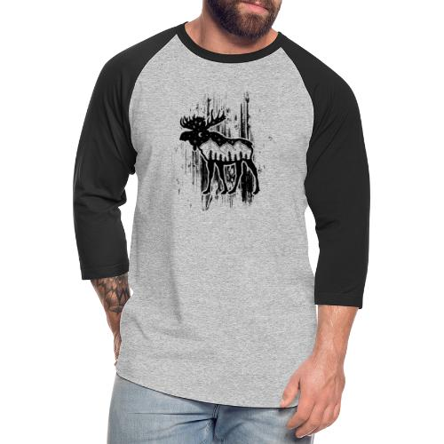 Moose - Unisex Baseball T-Shirt